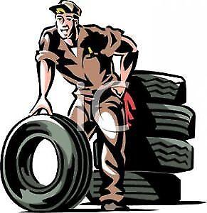 4 tires on rims change $25, 4 tires of rim $60, Shop open Sunday