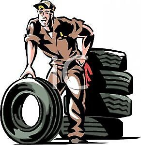 4 tires on rims change $25, 4 tires of rim $60, Shop open Sunday