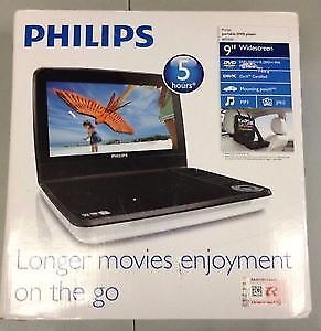 "Brand New Philips 9"" Portable DVD Player"