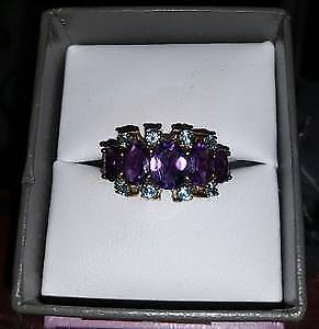 Amethyst 10k Gold Ring $250