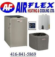 FURNACE,BOILERS,TANKLESS & A/C