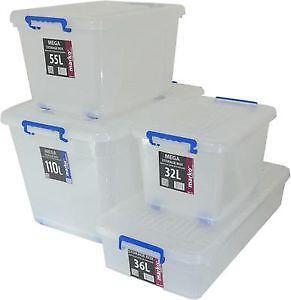 large plastic storage boxes