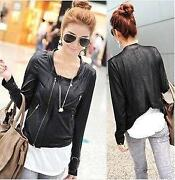 Womens Faux Leather Jacket