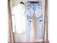 Balmain jeans light blue
