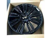 "x4 22"" Range Rover 9 Style Alloy Wheels Vogue Sport Discovery 3-5 Svr Svo Black"