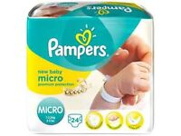 120 Pampers nappies