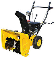 SNOW  BLOWERS 6.5 TWO  STAGE WITH  REVERSE 1-800-709-6249