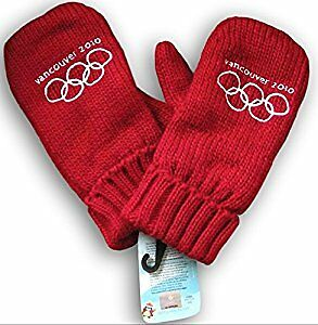 ORIGINAL 2010 VANCOUVER OLYMPIC RED MITTENS. . .NEW WITH TAGS