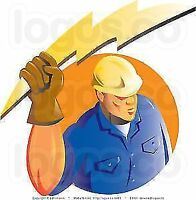 Electrician available for, evenings, and weekend work.