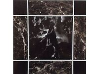 Sale!! Black Marble Self Adhesive Vynl Floor Tiles