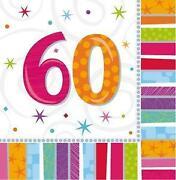 Servietten 60 Geburtstag