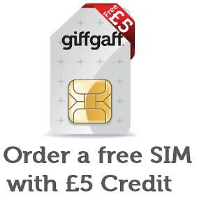 GiffGaff (02) Sim Card- £5.00 FREE Credit. Nano, Micro. Buy one, get TWO free!!