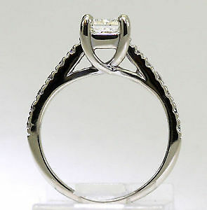 .80 ctw Radiant Cut Diamond Engagement Ring 14kt WG Kitchener / Waterloo Kitchener Area image 4