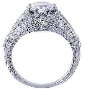 Antique White Gold Engagement Ring
