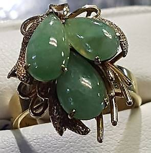 Jade Ring 14k gold $350