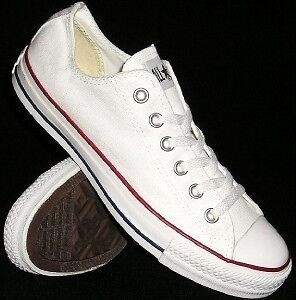 NEW-Mens-4-5-Womens-6-5-White-CONVERSE-ALL-STAR-Chuck-Taylor-LO-Sneakers-Shoes