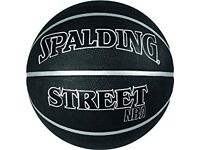 Spalding NBA Street Basketball - Black, Size 7, 1 time used, nearly like new