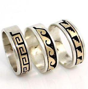 native american band rings - Native American Wedding Rings