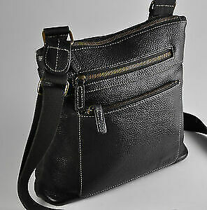 New Authentic Vintage Roots ExpressoBrown Leather Cross Body Bag