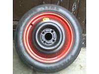 Ford Focus one use tubeless spare wheel