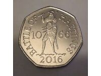 RARE BATTLE OF HASTINGS 50 PENCE COIN
