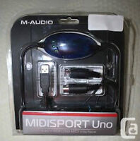 Sell/Trade, M Audio UNO MidiSport USB/Midi Interface, Mint