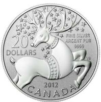2012 Christmas Silver Coin - Magical Reindeer, $20 Face Value