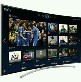 "Samsung 40"" Curved smart wifi tv Hd Free back full hd 1080p."