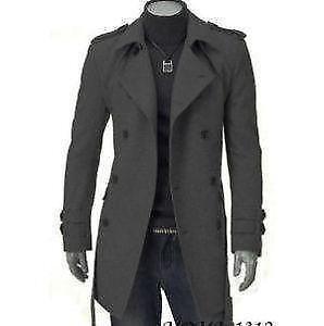 38d4cb097a895 Men s Long Black Winter Coat