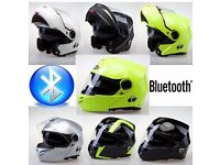 BLUETOOTH HELMETS FROM £99 OLD STOCK CLEARANCE ,NEW VCAN 271 JUST ARRIVED PHONE/MP3,SAT NAV INTERCOM
