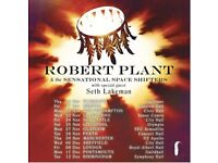 2 balcony seat tickets for Robert Plant Sheffield City Hall 6th December