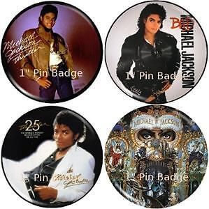 Michael Jackson - Picture Disc  Badge Set of 4 NEW