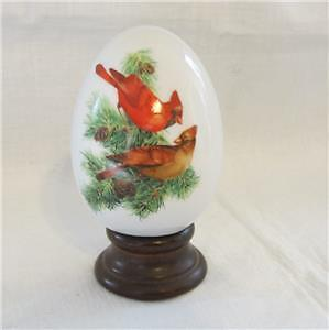 """vintage avon collectible egg """"winters bold beauty"""""""