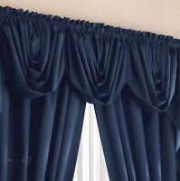 4 swag valances, pair of pinch pleated drapes, pair of blackout