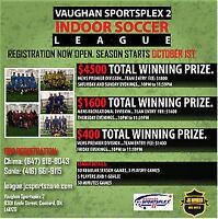 Indoor Soccer Toronto Adult Leagues, rentals, pick up!!