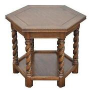 Antique Oak End Table