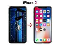 Apple Iphone X, Xr, Xs, Max Screen Phone Repair Replacement Service, Cracked screen