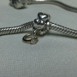 """Pandora 14ct gold & silver charm """"I do"""" with gen Diamond ring Butler Wanneroo Area Preview"""
