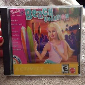 BARBIE PC COMPUTER GAME - BARBIE BEACH VACATION by MATTEL