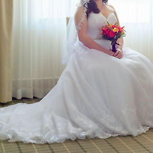 BEAUTIFUL WEDDING GOWN size 16!