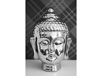 Beautiful Silver Shiny Buddha Head / Ornament for sale. Unwanted gift