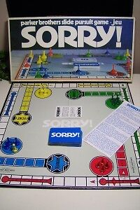 Vintage Sorry board game-1972-complete, excellent condition