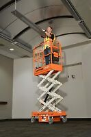 PUSH-AROUND MINI SCISSOR LIFT-SNORKEL S3010P FOR RENT $99