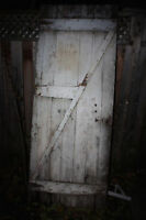 Belle porte de grange style rustique en bois massif