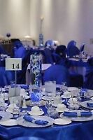 Royal Blue and white Linens