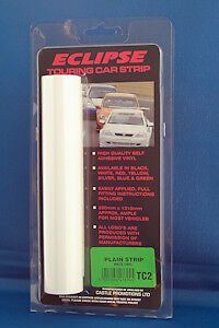 PLAIN WHITE SELF ADHESIVE TOURING CAR SUN STRIP EASY TO APPLY FOR MOST VEHICLES