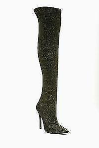 Thigh-High Boots - Black Lace-Up Leather | eBay