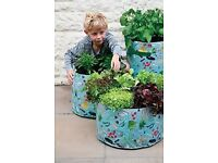 3 VEGETABLE PATIO PLANTERS - NEW IN PACKET