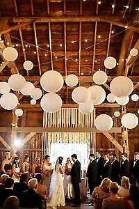 "8""- 18"" Round Chinese White Paper lanterns for Sale"