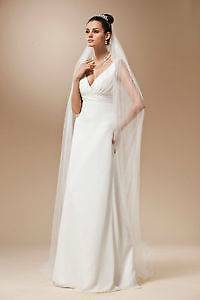 2.5m Soft Tulle Cathedral Chapel Length Wedding Veil Co Albury Albury Area Preview